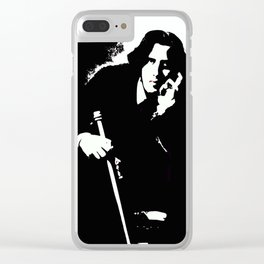 Oscar Wilde Clear iPhone Case