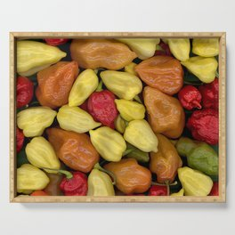Hot Peppers Serving Tray