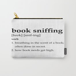 Book Sniffing Definition Carry-All Pouch