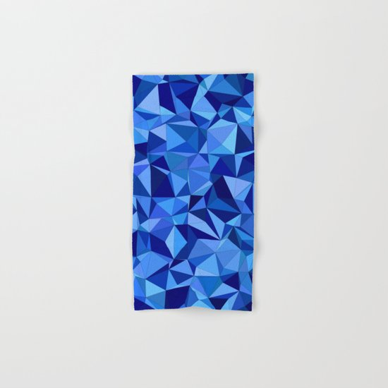 Blue tile mosaic Hand & Bath Towel