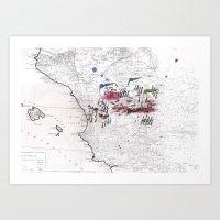 battlefield Art Prints featuring Battlefield II by Ale Santos