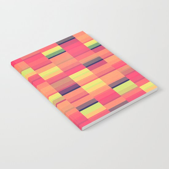 Color Blocks Pattern Notebook