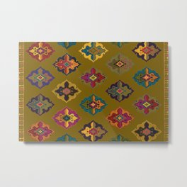 Moroccan tapis traditional Metal Print