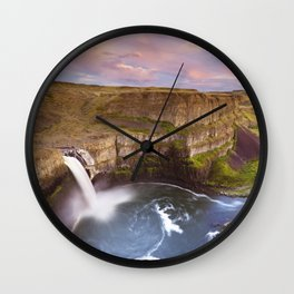 II - Palouse Falls in Washington, USA at sunset Wall Clock