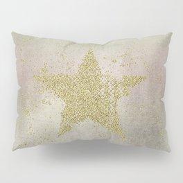 Sparkling Glamorous Golden Star Pillow Sham