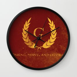 Daring, Nerve, and Chivalry  Wall Clock