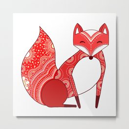 Touchy Fox Metal Print