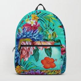 Floral American Football Backpack