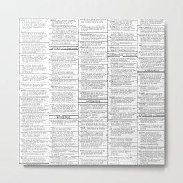 vintage newsprint, personals section Metal Print