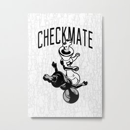 Checkmate Punch Funny Boxing Chess Metal Print