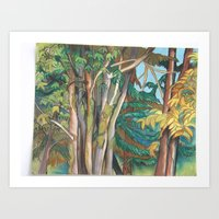 Pastel Forest Art Print
