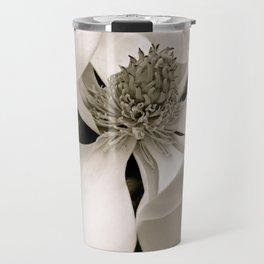 Angelic Magnolia II B&W Travel Mug