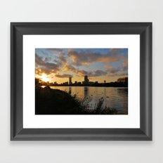 Boston at Sunrise - Massachusetts, New England Framed Art Print