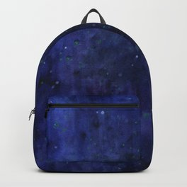 Galaxy Watercolor Nebula Texture Night Sky Stars Backpack
