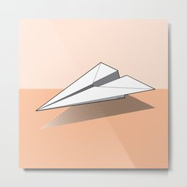 Paper Airplane 3 Metal Print