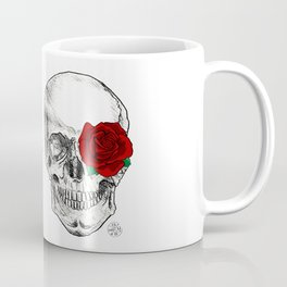 Rose Skull Coffee Mug