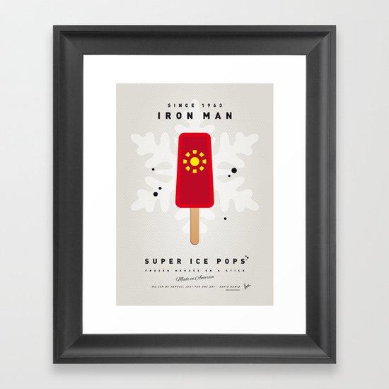 My SUPER ICE POP- No06 - IRON MAN Framed Art Print