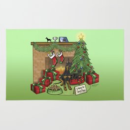 Manchester Terrier Christmas Rug