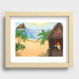 """""""Welcome to Polynesian Paradise"""" Recessed Framed Print"""