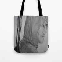 green arrow Tote Bags featuring Arrow by Brooke Shane