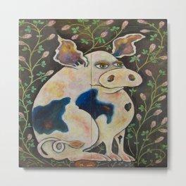 Pig & Clover Metal Print