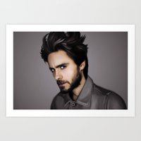 jared leto Art Prints featuring Jared Leto by Clara J Aira