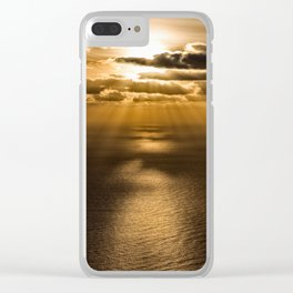 Sunrise over the Atlantic ocean Clear iPhone Case