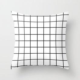 Grid (Black/White) Throw Pillow