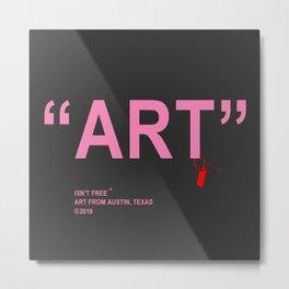 """Art, """"Pink"""" Off-White Metal Print"""