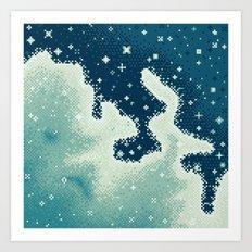 Snowdrift Nebula Art Print