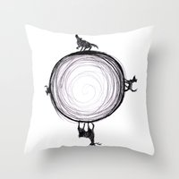 marauders Throw Pillows featuring Marauders Moon II by srw110