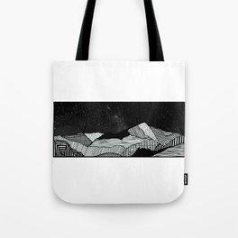 Snowdon Mountain Drawing Tote Bag