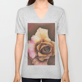 Earth Tone Rose Unisex V-Neck