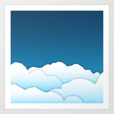 Paper Clouds Art Print