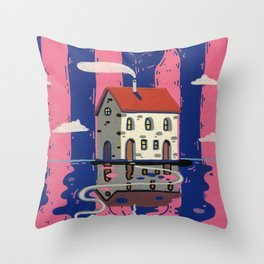 scary house Throw Pillow
