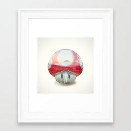 Mushroom - Kart Art Framed Art Print