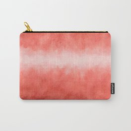 Bursting with Love - Living Coral Stripe Abstract Carry-All Pouch