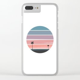 Palm Sunset Clear iPhone Case