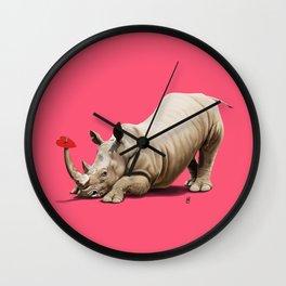 Horny (Colour) Wall Clock