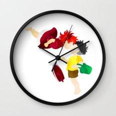 Ponyo and Sosuke white background Wall Clock