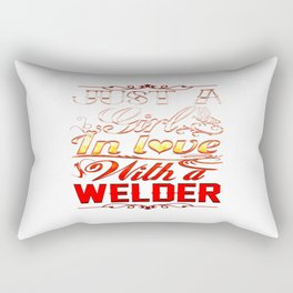 In love with a Welder Rectangular Pillow
