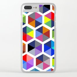 Hexagon Study Clear iPhone Case