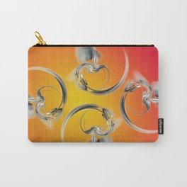 silver heart Carry-All Pouch