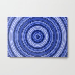 Light blue circles Metal Print