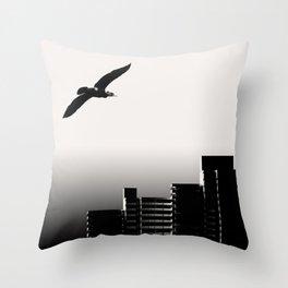 Sea Raven Throw Pillow