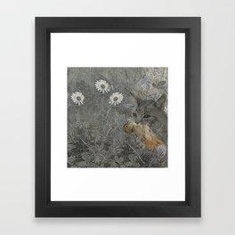 Cat work Framed Art Print