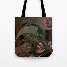 Abstract Fractal Spiral Tote Bag