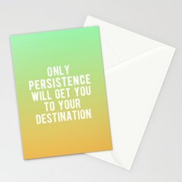 Inspirational - Be Persistent Stationery Cards