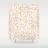 olivia joy Shower Curtains featuring Olivia by Nikki Choi