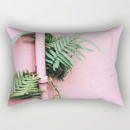 Plants on Pink Rectangular Pillow